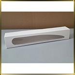 коробка (упаковка) д/макаронс 300*50*50мм белая с окошком