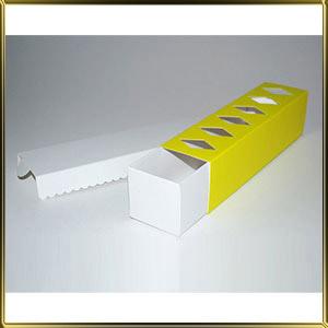 коробка (упаковка) д/макаронс 200*50*50мм светло-салатовая с окошком