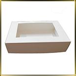 коробка (упаковка) д/пирожных 265*180*65мм белая с окошком