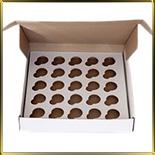 коробка (упаковка) д/пирожных 260*255* 45мм белая