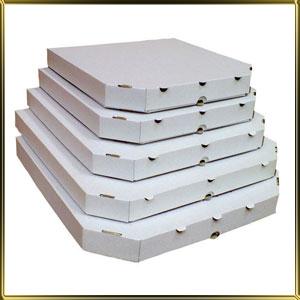 коробка (упаковка) д/пиццы 250*250*30мм белая