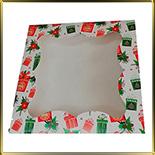 коробка (упаковка) д/пряников 160*160*30мм Подарок с окошком