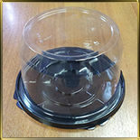 коробка (упаковка) д/торта кругл. 195*100мм (1шт.) дно черное