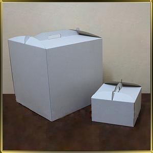коробка (упаковка) д/торта квадр. 400*400*300мм белая