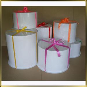 коробка (упаковка) д/торта кругл. 175/125мм белая