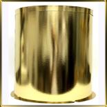 коробка (упаковка) д/торта кругл. 400/615мм золотая