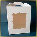 коробка (упаковка) 170*170*210мм белая с окошком