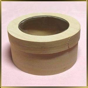 коробка  (упаковка) бук. кругл. 120/60мм с окошком