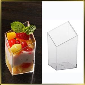 стаканчик пл. Куб скошенный  60мл (20шт.) прозр.