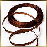 лента атласная коричневая светлая  5мм