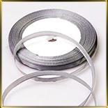 лента атласная серая/серебряная  5мм