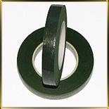 лента для цветов (тейп-лента) зеленая темная 13мм