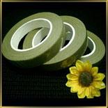 лента для цветов (тейп-лента) зеленая светлая 13мм