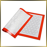 лист силикон. д/Macaroons с выемками d28мм 140шт. белый с каймой