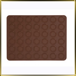 лист силикон. д/Macaroons с выемками d40мм 42шт. коричневый