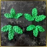 листик 30, 36мм Кудрявый зеленый 6+6шт. мастика сах.
