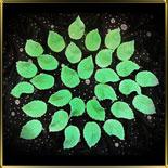 листик 25мм Роза зеленый 15шт. мастика сах.