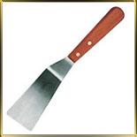 лопатка кухонная угл.  55*100/260мм н/с дер. ручка