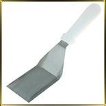 лопатка кухонная угл.  70*125/290мм н/с пласт.руч.