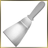 лопатка кухонная угл. 120*130/290мм н/с пласт.руч.