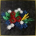 набор №2 Украинские цветы мастика сах.