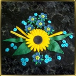 набор №3 Украинские цветы мастика сах.