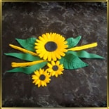набор №4 Украинские цветы мастика сах.