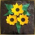 набор №5 Украинские цветы мастика сах.