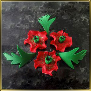 набор №6 Украинские цветы мастика сах.