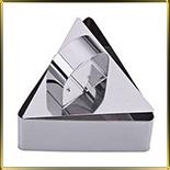 обечайка н/с для гарниров и салатов Треугольник 75*40мм (1шт. + выталкиватель)