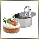 обечайка н/с для гарниров и салатов Круг   60*40мм (3шт. + выталкиватель)