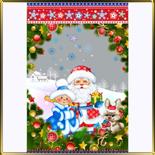 пакет рожд. 200*300мм Дед Мороз + Снегурочка (10шт.)