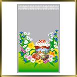 пакет пасх. 200*300мм (10шт.) Кулич с цветами