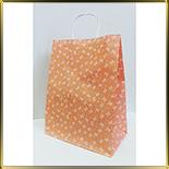 пакет бум. с ручк. 335*260*140мм персиковый с бантиками 5шт.