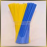 палочки д/конфет (леденцов, кейк-попсов) желто-синие пласт.