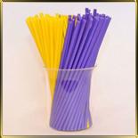 палочки д/конфет (леденцов, кейк-попсов) желто-сиреневые пласт.