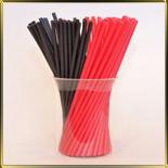 палочки д/конфет (леденцов, кейк-попсов) красно-черные пласт.