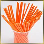 палочки д/конфет (леденцов, кейк-попсов) оранжевые пласт.