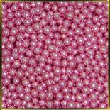 жемчуг розовый 5мм 100г перламутр.