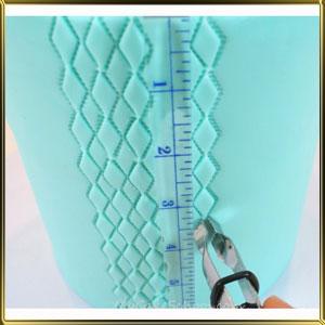 пинцет (щипцы) д/мастики Ромб рифлен. 15мм н/с