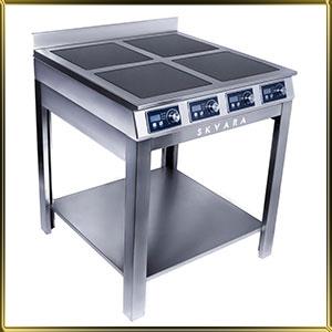 плита индукционная напольная 4конф.*3,5кВт