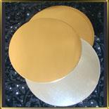 подложка золотая Круг 240мм  (10шт.)