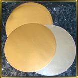 подложка золотая Круг 395мм (10шт.)