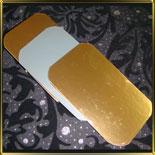 подложка золотая Прямоуг.  60*100мм (10шт.)
