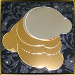 подложка золотая Круг  95мм с руч. (10шт.)