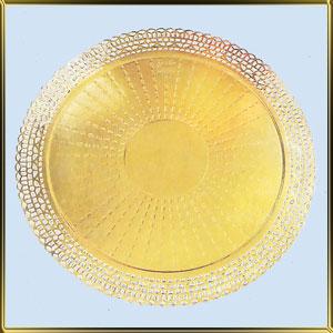 подложка ажурн. золотая Тарелочка 18-25см ( 1шт.)