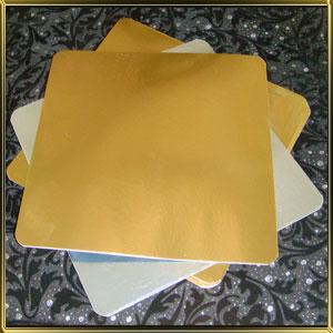 подложка золотая Квадрат 250*250мм (10шт.)