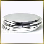 подложка Круг утолщенная 300мм серебро