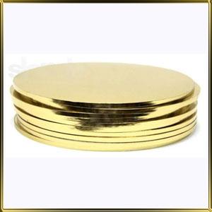 подложка Круг утолщенная 300мм золотая