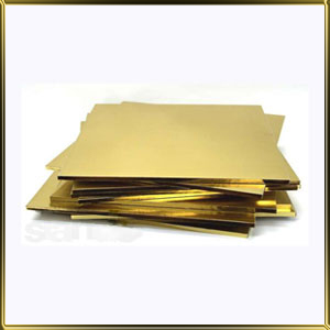 подложка Квадрат утолщенная 400*400мм золотая